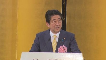 安倍晋三首相「ワクワクする日本を創りたい」  経済3団体の新春祝賀パーティーで強調