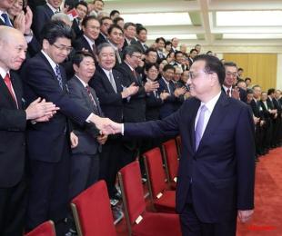李総理、日本経済界代表団と会談=北京