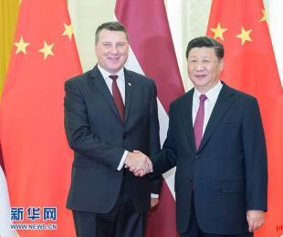 習主席、ラトビアとサモアの首脳らと会談=北京